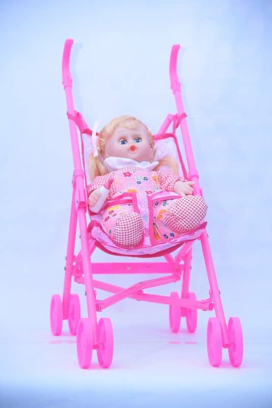 Stuff Doll with Trolley