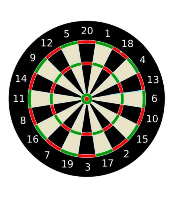 Classic 17 Double Sided Original Dart Board Game