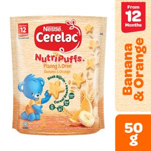 Nestle Cerelac NutriPuffs Banana & Orange Pouch 50gms
