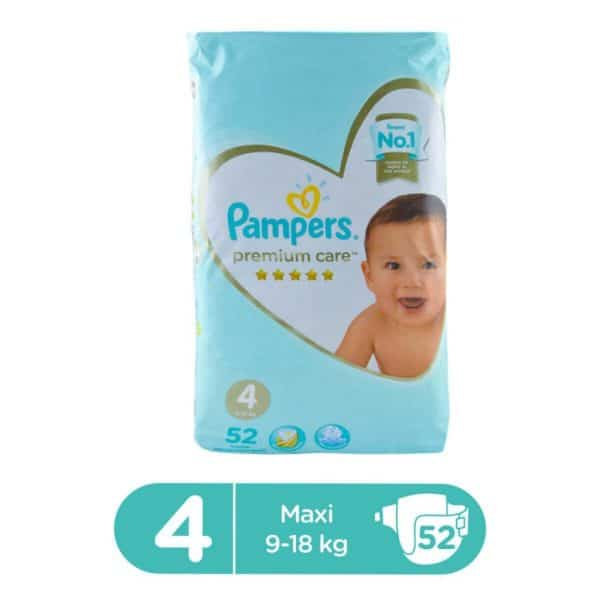 PAMPERS PREMIUM CARE MEGA PACK LARGE SIZE 4 (52 COUNT)