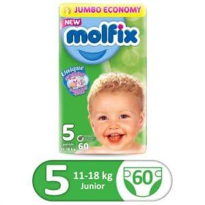 MOLFIX 3D JUMBO PACK JUNIOR SIZE 5 60PCS
