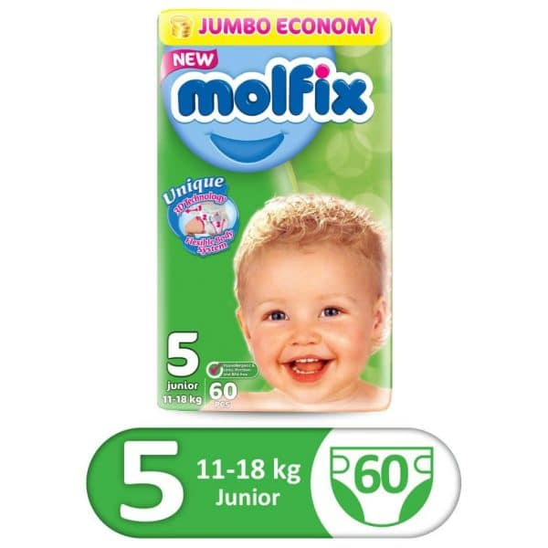 MOLFIX 3D JUMBO PACK JUNIOR SIZE 5 60PCS