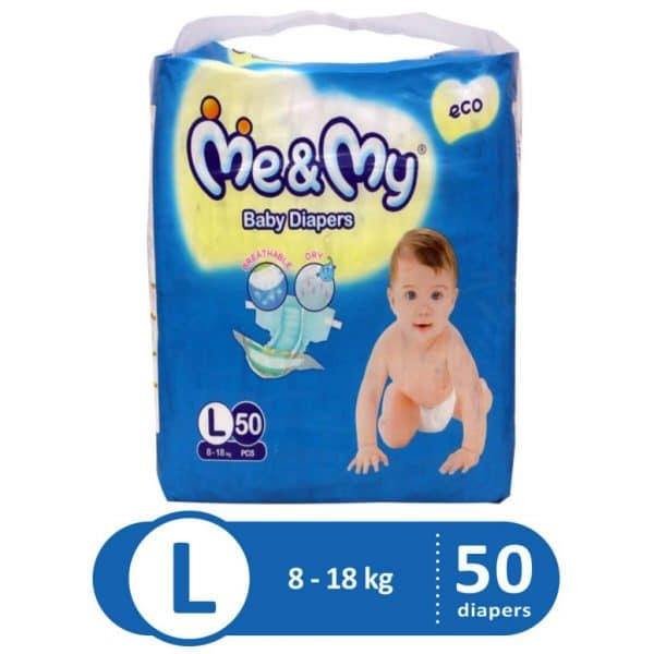 ME & MY DIAPERS ECONOMY LARGE 50PCS