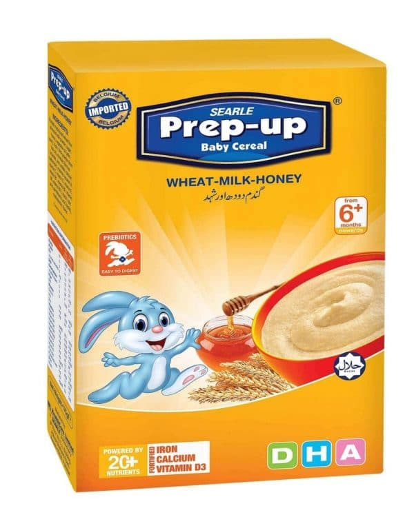 Searle Prep-Up Baby Cereal Wheat Milk & Honey 175gm